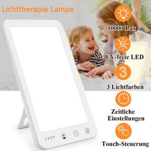 3 Modi Tageslichtlampe SAD Lichttherapie Lampe 10000Lux LED Tageslicht Lampe
