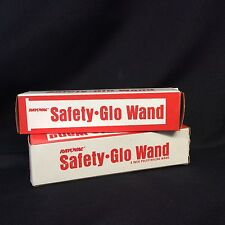 Vintage New in Box Rayovac Safety-Glo Wand USA Set of 2 ~
