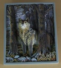 Timberland Chorus HUNTERS PROUD AND FREE Plate Plaque Wolf Sculptural Panorama