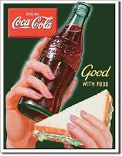 USA Coca Cola Imbiss Sandwich Snack Metall Werbung Verkauf Plakat