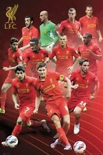 SOCCER POSTER Liverpool Players 2013