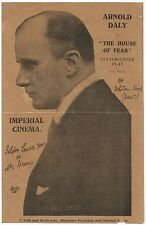 1915 House of Fear herald - Arnold Daly