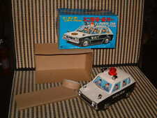 VINTAGE, NOS, TALKING KANTO POLICE CAR W/BUMP'N GO. WORKING PERFECTLY W/BOX!