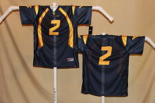 WEST VIRGINIA MOUNTAINEERS  Nike #2  FOOTBALL JERSEY   Youth Large  $46  NWT bl
