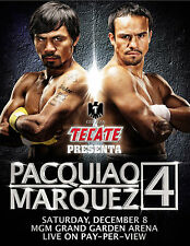 PACQUIAO V MARQUEZ 4 VERY RARE PROMOTIONAL BOXING POSTER