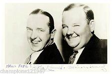 Oliver Hardy-Stan Laurel ++Autogramm++ ++Dick + Doof++2