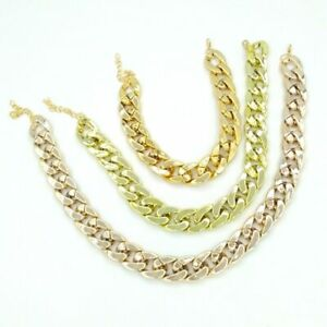 Dog Cat Collar Plastic Fat Chunky Chain Gold Necklace Small Pet Accessories Gift