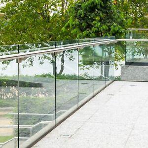 10mm Toughened Glass Balustrade Panels Balcony Decking Stairs - Custom Sizes