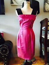 Dolce Gabana Plum Dress With Velvet Straps Size 38