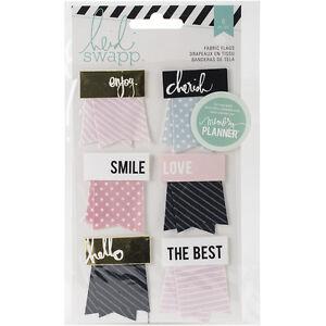 American Craft Heidi Swapp Hello Beautiful Collection Memory Planner Fabric Flag