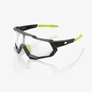 Ride 100% Cycling Sunglasses Speedtrap - Soft Tact Cool Grey - Photochromic Lens