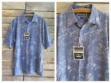 NWT Weekender Blue Hawaiian Men's Button Down Aloha Camp Shirt Medium