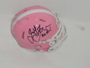 JAMES FRANKLIN SIGNED PENN ST. NITTANY LIONS PINK MINI HELMET WE ARE! STATE