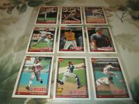 1991 OPC   CLEVELAND INDIANS  TEAM SET (30)