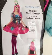 Teacup Mad Hatter Costume Womens Size S 4 6 Small Halloween Cosplay Dress