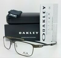 NEW Oakley Steel Plate RX Eyeglasses Frame Powder Pewter OX3222-0456 AUTHENTIC