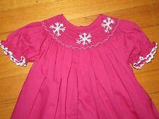 Smocked Snowflakes Bishop Dress 6 months