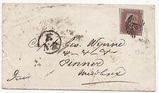 * 1853 LONDON TO CAPt GEO WYNNE AT PINNER MIDDX E/NR GRAND NORTHERN RAILWAY TPO