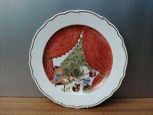 Hutschenreuther Weihnachtsteller ca Ø 31 cm handgemalt, signiert