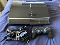 Sony PlayStation 3 PS3 Fat 80GB CECHK01 Console Tested With One Controller