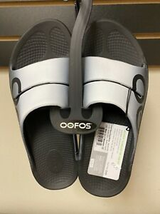 OOFOS Recovery Slides OOahh Sport Gray/White