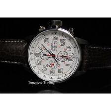 Orologi da polso Chrono con cinturino in pelle con cronografo