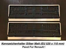 2x Top Kennzeichenhalter Silber Matt Chrom Optik Gebürstet Made in EU (60