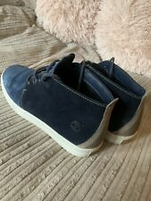 Genuine Men's Timberland Boots Size 10 Excellent  Condition Blue Suede