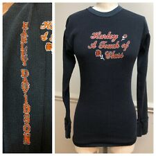 Vintage 1970s/80s HARLEY-DAVIDSON Thermal T-shirt A Touch Of Class 70s HANTEX