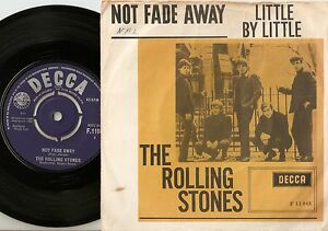 THE ROLLING STONES NOT FADE AWAY DANISH PS+45 1964 MOD R&B YELLOW BOX VARIATION