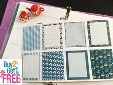 PP097B -- Winter Functional Box Life Planner Stickers for Erin Condren 8 pcs