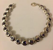 argento sterling CUORE zirconia cubica bracciale