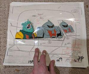 1985 He Man Masters Of The Universe Horde Trooper & Leech Animation Cel