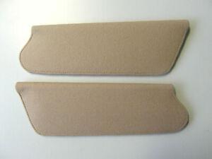 Jaguar E-type Sun Visors TAN/GREY original woolcloth
