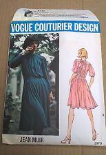 Vogue Couturier Design 2970 Jean Muir Dress sz 8 Rare 70's Cut Counted Complete