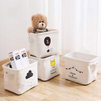 1pcs Organizer Cartoon Cosmetic Storage Toy Storage Box Cloth Storage Basket