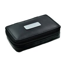Rectangular Leather Travel CUFFLINKS Case Message Engraved Present Gift Box
