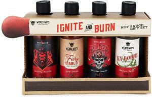 Modern Gourmet Foods, Ignite and Burn Hot Sauce Gift Set, 4 Unique Flavours