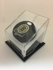 PHIL ESPOSITO AUTOGRAPHED HOCKEY PUCK AND STAND BY MOUNTED MEMORIES