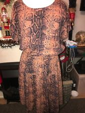 French Connection Snake Print Dress Size 10
