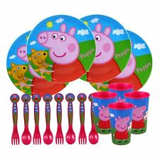 Peppa Pig® 16PC Peppa Pig & George Childs Bumper Meal Tableware Set - BPA Free.