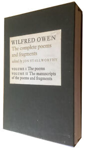 1983 - OWEN, Wilfred.  The Complete Poems and Fragments: