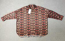 Uterque Ladies Snake Print Oversized Blouse Top - Size M BNWT
