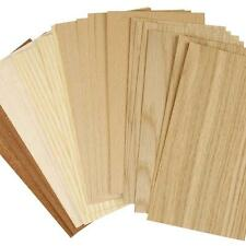 30 x Real Wood Veneer 1mm Sheet Easy to Cut Craft Paper 22x12cm Material Decor