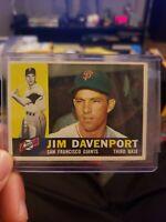 1960  JIM DAVENPORT - Topps Baseball Card # 154 - SAN FRANCISCO GIANTS