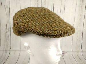 Young Boys Harris Tweed Wool Baker Boy Newsboy Flat Cap Small 52cm