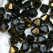 25 Perles Cristal-TOUPIES SWAROVSKI - B DIAM DORADO    4 mm