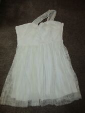BNWT UK £49 TopShop Dress Cream Floral Lace One Shoulder Wedding Prom