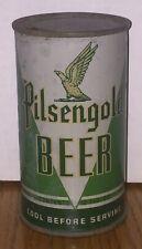 *Enamel Instructional* Pilsengold OI Flat Top Beer Can-USBC# 115-40