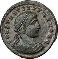 CONSTANTINE II Jr. Constantine the Great son Ancient Roman Coin GATE  i20267
